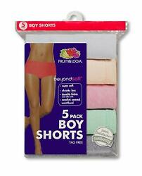 Fruit Of The Loom Womens Beyondsoft Boy Short 5-Pack Size 9 (44-45