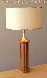 MID CENTURY DANISH MODERN TEAK DESK LAMP! 50'S VTG RETRO SWEDISH HOME 60'S LIGHT