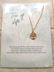 THE TREE OF LIFE PENDANT Gold Colored NEW