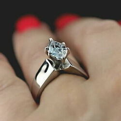 2 Ct Marquise Cut Diamond Solitaire Engagement Wedding Ring 14K Solid White Gold