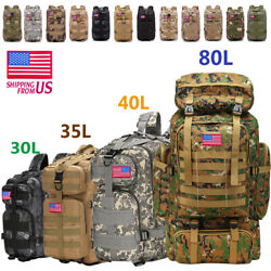 30L 35L 40L 80L Outdoor Military Tactical Rucksack Backpacks Hiking Camping Bag $26.98