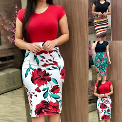 Office Dress Formal Elegant Women's Business Bodycon Sheath Pencil Dresses NEW