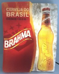 Brahma Beer Cerveza do Brasil Lighted Beer Sign  Tested Man Cave  She Shed EUC