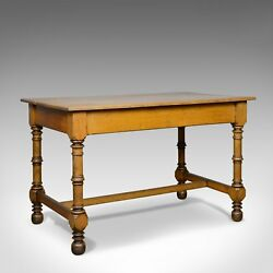 Antique Writing Table English Victorian Side Oak Late C19th Circa 1870