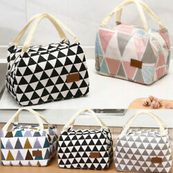 HOT Women Girls Kids Floral Portable Insulated Lunch Bag Box Picnic Tote Cooler