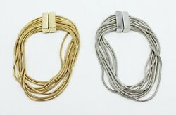 New Gold or Silver Multi Strand Bracelets with Magnetic Closures #B1387