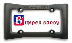 License Plate Frame Bumper Guard - Extra Wide Black Rubber Front Car Bumper...