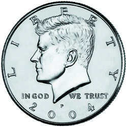 2004 P&D JOHN F. KENNEDY HALF DOLLAR (2 Coin Set UNCIRCULATED) FROM MINT ROLLS