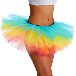 Tutu Skirt Women#x27;s Teens Classic Elastic 5 Layered Tulle Ballet Skirt Adult Size $5.99