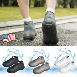Unisex Outdoor Foldable Slip Rain Waterproof Shoe Covers Silicone Boot Shoes USA $13.09
