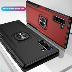 For Samsung Galaxy Note 10Note 10 Plus Slim Hybrid Ring Stand Phone Case Cover