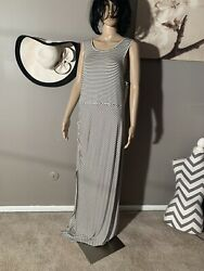 "Bobeau Size 1X Striped Maxi Dress Length 65"" $20.00"