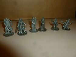 MONOPOLY LORD OF THE RINGS TRILOGY EDITION 6 PAWNS (Complete Set)