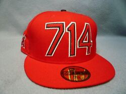 New Era 59fifty Los Angeles Angels of Anaheim Area Code 714 NEW Fitted cap hat