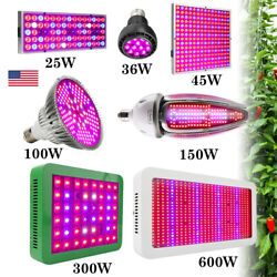 25W-600W Full Spectrum LED Grow Light Bulb E27 E40 Lamp for Plant Hydroponic US $12.58