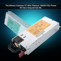 Bitmain Antminer S7 16 AWG 10PCIe Connector 94% Platinum 1950W For BTC PSU Power