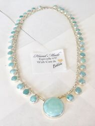 Amazing   handcrafted AAA Larimar  Necklace 925 silver  #ln2