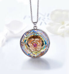 Swarovski Elements Crystal in Vitrail Light Color Pendant Necklace ITALY MADE