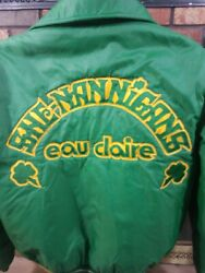University of Wisconsin Eau Claire Satin SHE-NANNIGANS Green Jacket Mens Large