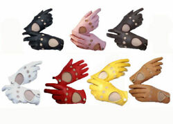 Women Lambskin soft genuine leather driving glove $21.99