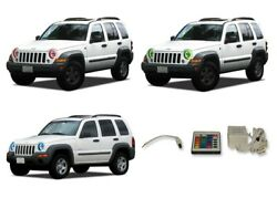 for Jeep Liberty 02-07 RGB Multi Color IR LED Halo kit for Headlights