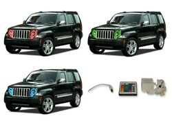 for Jeep Liberty 08-13 RGB Multi Color IR LED Halo kit for Headlights