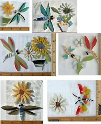 Small Large Different Shape Color Dragonfly Variations Broken China Mosaic Tile