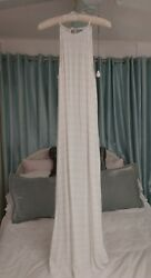 NWT TAVIK Limelight White Maxi Long Dress Sz Small Gown $31.95