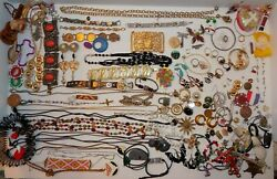Costume Jewelry Assorted Craft Lot Assortment 3# Plus - Pieces Parts