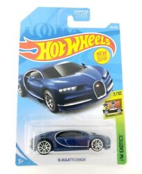 Hot Wheels '16 Bugatti Chiron Blue Hw Exotics 2019 New Sealed SHIPS IN PROTECTOR