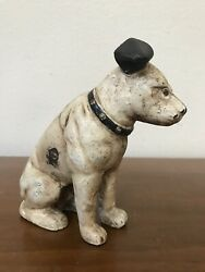 Vintage Cast Iron Bank Nipper Dog RCA Victor Advertising 6