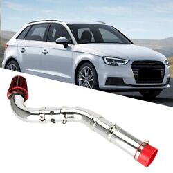 Aluminum Alloy Car Modification Cold Air Filter Intake Pipe Hose Kit Universal