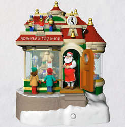 Hallmark Keepsake 2019 Kringle's Toy Shop Ornament With Light Sound and Motion