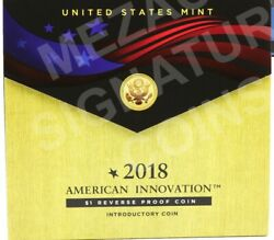 American Innovation 2018 $1 Reverse Proof Coin $21.95