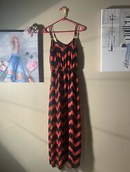 "Agaci Agaci Agaci Size M Zigzag Maxi Dress Length 59"" $8.00"