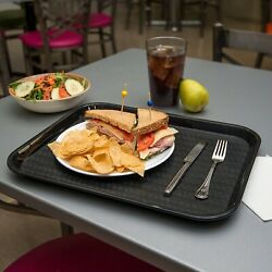 Black Cafeteria Fast Food Tray Light Weight Heat Resistant Food Serving Tray