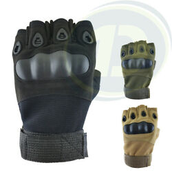 Tactical Half Finger Gloves Army Military Outdoors Fingerless Bike Hunting AU $18.95