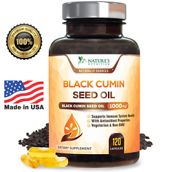 Black Seed Oil Capsules Highest Potency Black Cumin 1000mg - 120 count $22.92