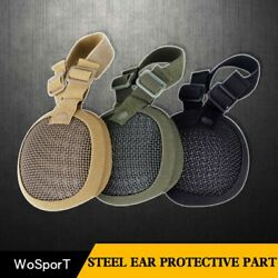 Outdoor Helmet Earmuffs Anti-Shock Made of Low-carbon Steel Fabric Hat Protect