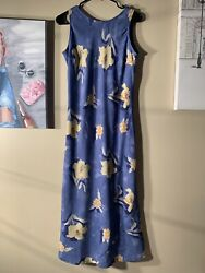 "S. Roberts Size 7 8 Sleeveless Maxi Dress Length 51"" $10.00"
