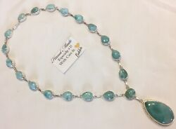 Amazing   handcrafted AAA Larimar  Necklace 925 silver  #N58