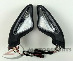 Ducati 848 1098 1198 Rear View Mirrors Integrated LED Turn Signal Blinkers
