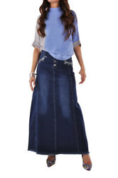 39.5quot; Long Style J Lily Blue Long Jean Skirt $51.00