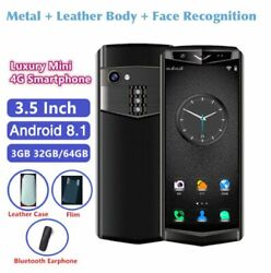 Super Mini Smartphone 4G M17 3GB32G 64G Android 8.1 Face ID Leather Body Phone $138.69