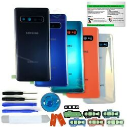 Back Glass Replacement Kit For Samsung Galaxy S10 10e S10Camera LensIP68 Tape $13.74