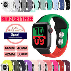 38424044mm Silicone Sports Band iWatch Strap for Apple Watch Series 4 3 2 1