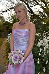Watters Bohemian Silk Wedding Gown Dress Pink purple Rose Quartz Blush 6 8 10 12