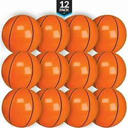 Bedwina Inflatable Basketballs (Pack Of 12) 16 Inch Beach Balls Sports Themed