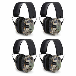 Walkers Ultimate Hunting Shooting AFT Power Muff Quads Realtree Camo (4 Pack)