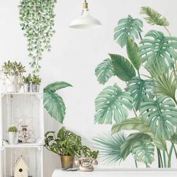 Tropical Plant Palm Leaves Branch Wall Stickers Decal Kids Decor Art Mural Gift AU $28.79